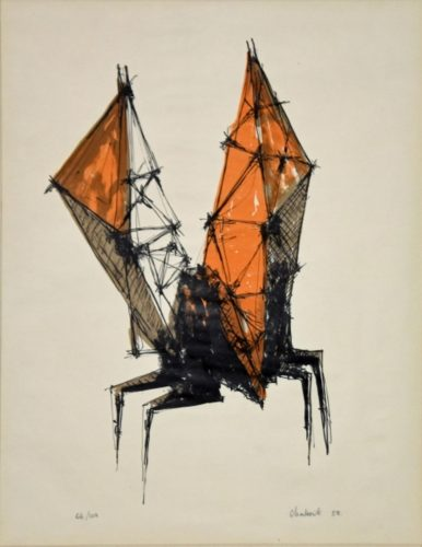 Winged Figure, 1958 by Lynn Chadwick at K Contemporary Ltd.