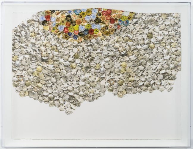 Variation I (B) by El Anatsui at Leslie Sacks Gallery (IFPDA)