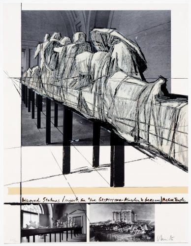 Aegena Temple Project for Munich Glyptotek by Christo and Jeanne-Claude at Leslie Sacks Gallery (IFPDA)