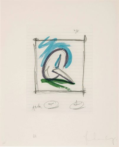 Sketch for a Sculpture in the Form of a Steel Tack by Claes Oldenburg at