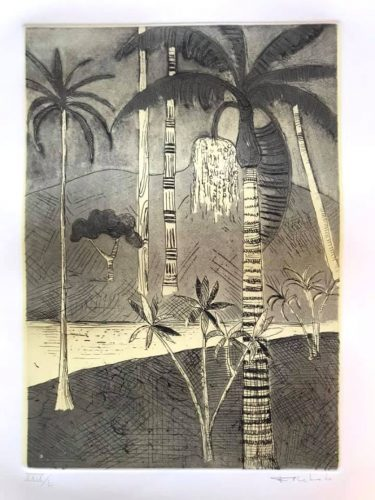 Untitled (Landscape with Palm Tree) by Francisco Rebolo at