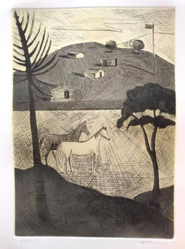 Untitled (Landscape with Horses) by Francisco Rebolo at