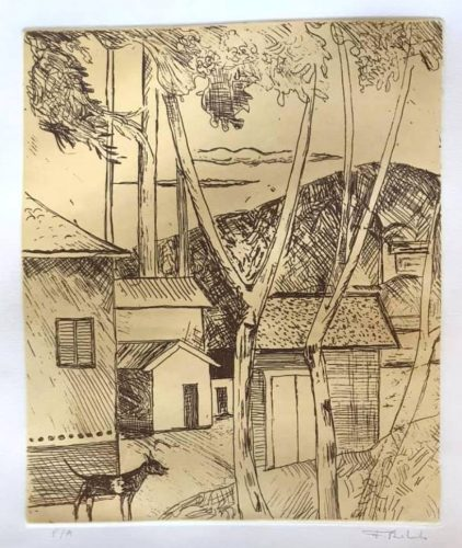 Untitled (Landscape with Bamboo) by Francisco Rebolo at