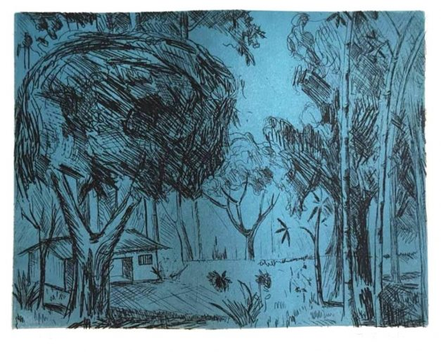 Untitled (landscape with house) by Francisco Rebolo at