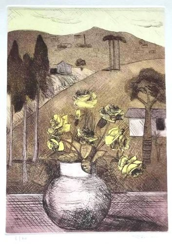 Untitled (Landscape with Flower Vase) by Francisco Rebolo at