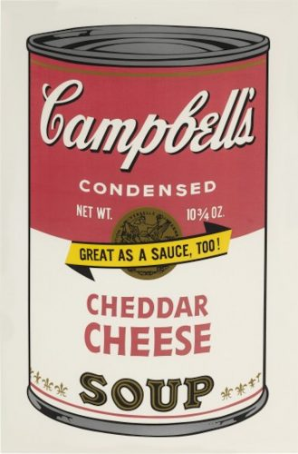 Campbell's Soup II: Cheddar Cheese by Andy Warhol at Andy Warhol