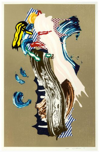 Blonde (from Brushstroke Figures Series) by Roy Lichtenstein at
