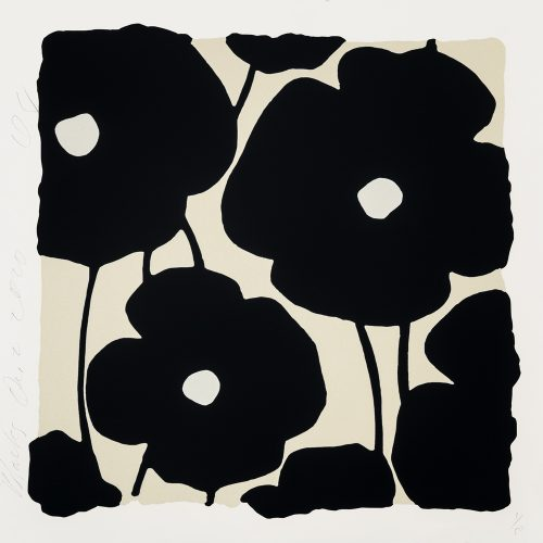 Three Poppies (Black) by Donald Sultan at