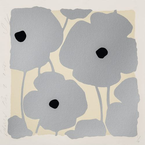 Three Poppies (Silver) by Donald Sultan at