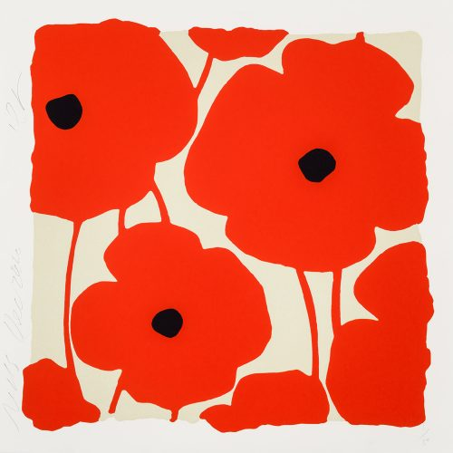Three Poppies (Red) by Donald Sultan at