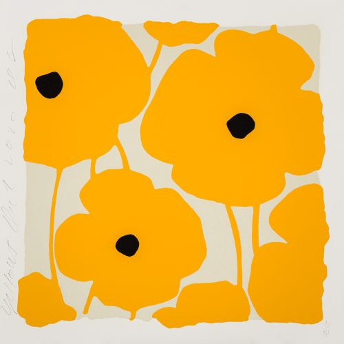 Three Poppies (Yellow) by Donald Sultan at