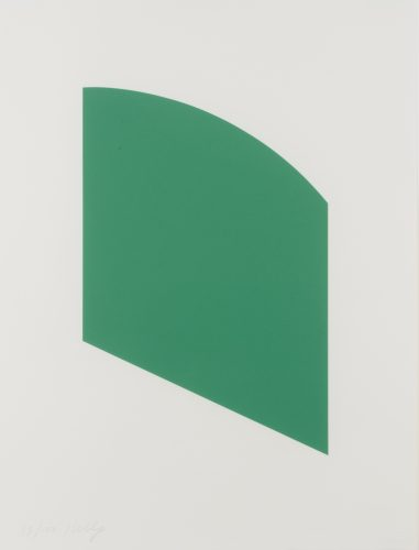 Green Curve by Ellsworth Kelly at Leslie Sacks Gallery (IFPDA)