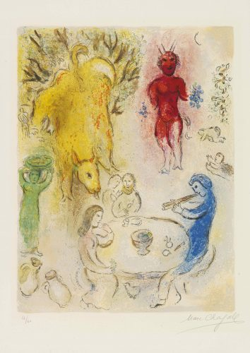 Banquet de Pan by Marc Chagall at