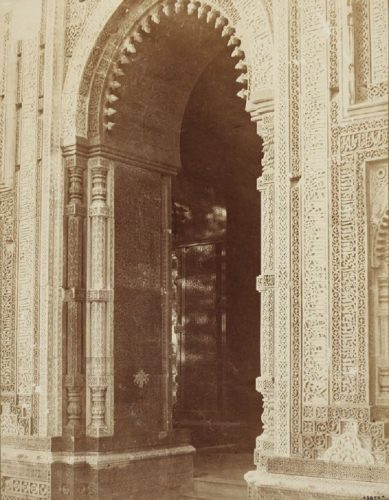 'The Qutub' 1860 Eugene Clutterbuck Impey Print by Eugene Clutterbuck Impey at