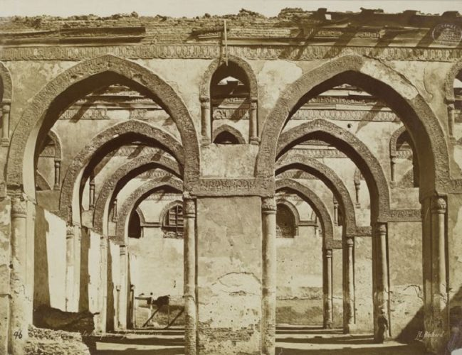 'Interior Of The Mosque Of Ibn Tulun' 1880 H. Béchard Print by Henri Béchard at