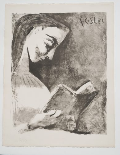 Jacqueline lisant by Pablo Picasso at