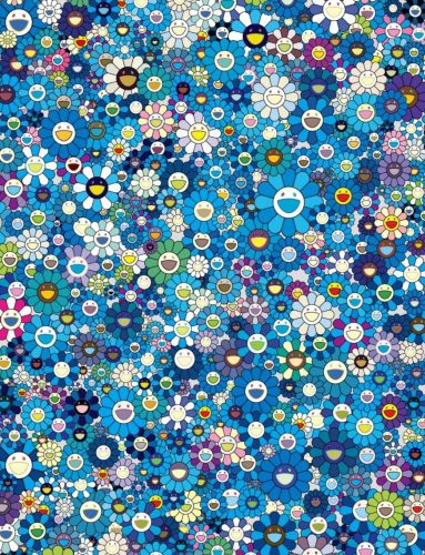 An Homage to IKB 1957 F (Blue) by Takashi Murakami at