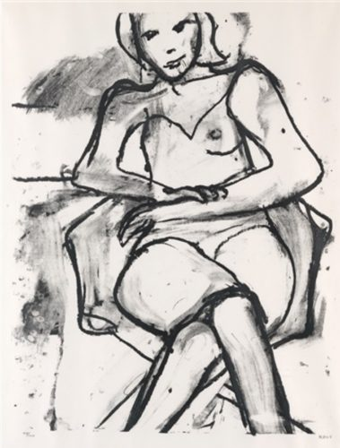 Seated Woman by Richard Diebenkorn at