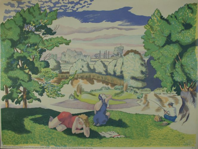 Landscape with Bathers by John Northcote Nash at
