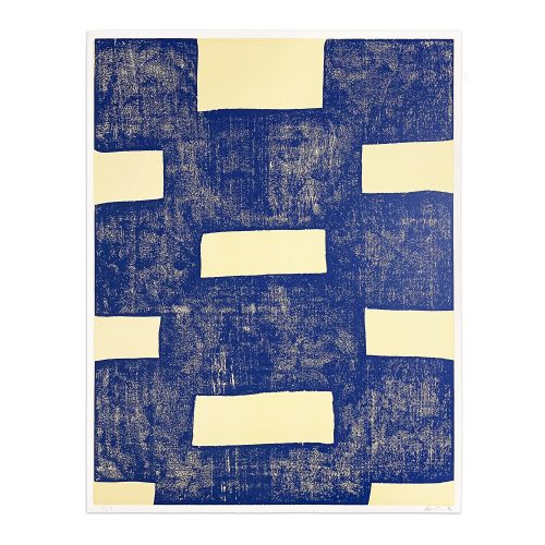Untitled (Blue Woodcut) by Günther Förg at