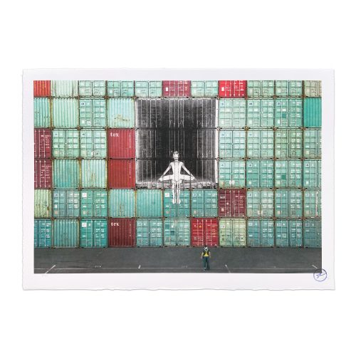 In the container wall, Le Havre, France, 2014 by JR at MLTPL