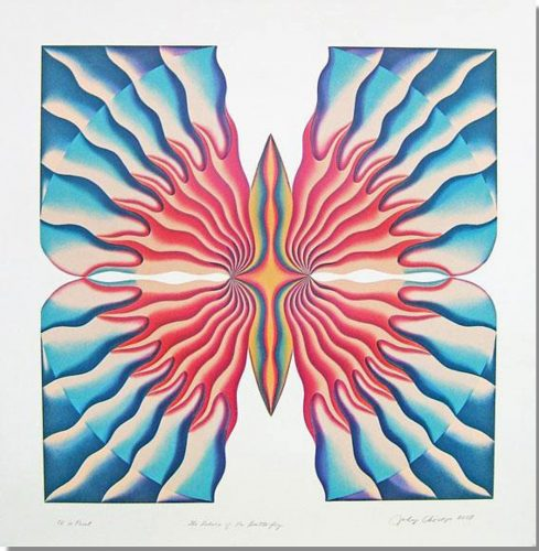 Return of the Butterfly by Judy Chicago at Turner Carroll Gallery