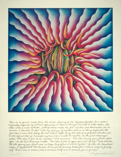 Peeling Back by Judy Chicago at Turner Carroll Gallery