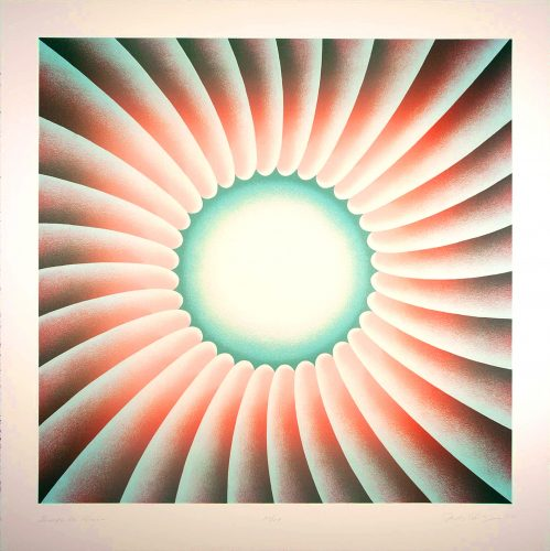 Through the Flower by Judy Chicago at Turner Carroll Gallery