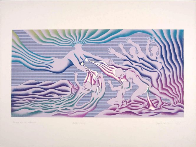 Guided by the Goddess by Judy Chicago at Turner Carroll Gallery