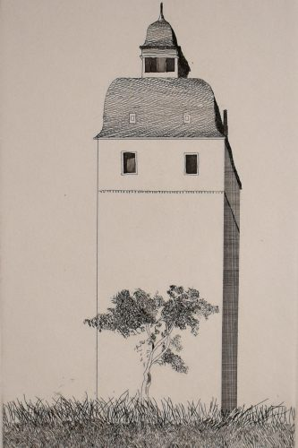 The Bell Tower, from: Six Fairy Tales from Brothers Grimm by David Hockney at