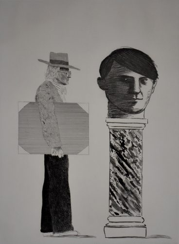 The Student, Homage to Picasso by David Hockney at