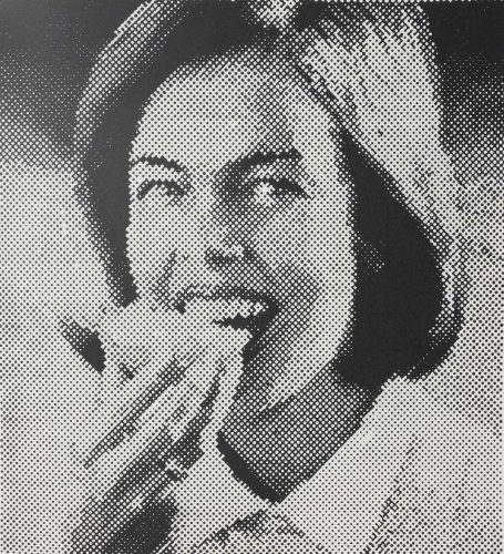 Frau Mit Butterbrot by Sigmar Polke at