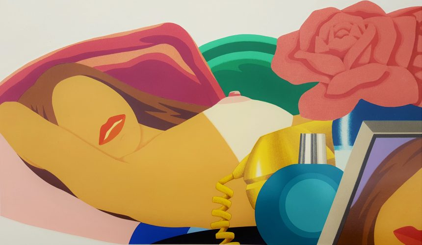 Nude with Rose by Tom Wesselmann at