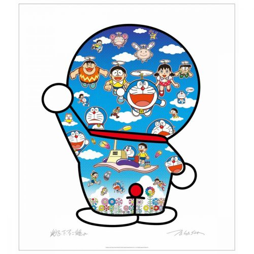 Doraemon and Friends Under the Blue Sky by Takashi Murakami at