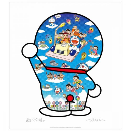Doraemon, Let's Go Beyond These Dimensions on a Time Machine with Master Fujiko F. by Takashi Murakami at