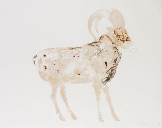 Mouflon by Elisabeth Frink at