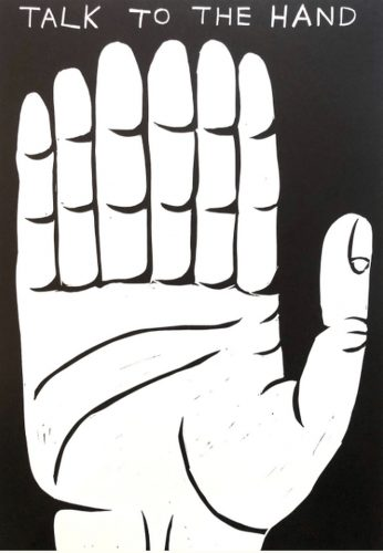 Talk To The Hand by David Shrigley at Gallery Collectors