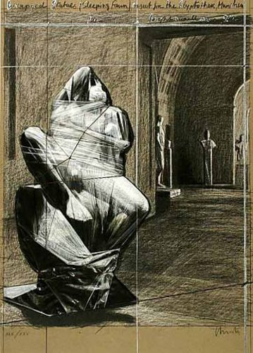 Wrapped Statues, Sleeping Fawn, Project for the Glyptothek by Christo at