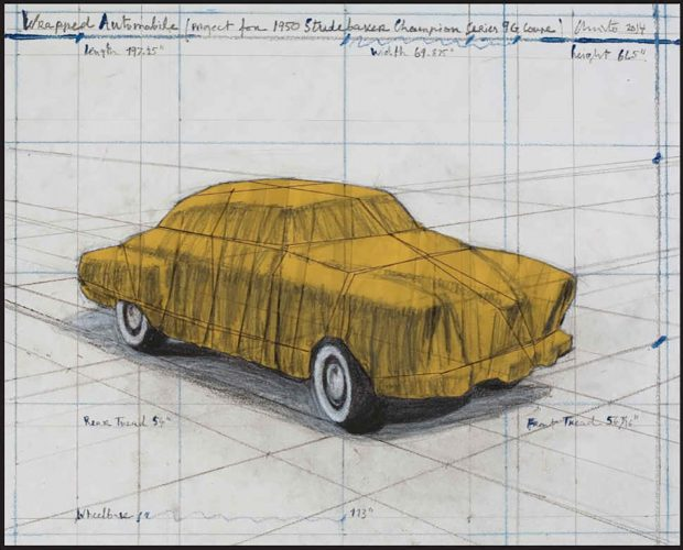 Wrapped Automobile, Project for Studebaker by Christo at