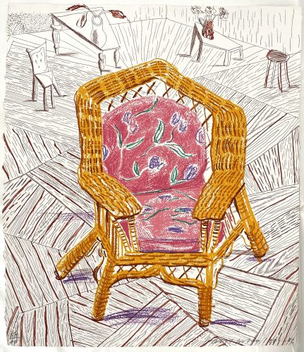 Number One Chair, from Moving Focus by David Hockney at Leslie Sacks Gallery (IFPDA)