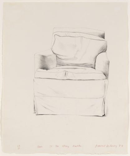 Chair, 38 The Colony, Malibu by David Hockney at Leslie Sacks Gallery (IFPDA)