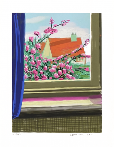 My window iPad drawing 'No. 778', 17th April 2011 by David Hockney at Fairhead Fine Art