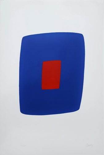 Dark Blue with Red (VI.7) by Ellsworth Kelly at