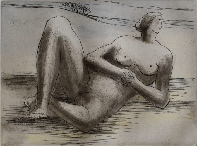 Reclining Figure VIII by Henry Moore at