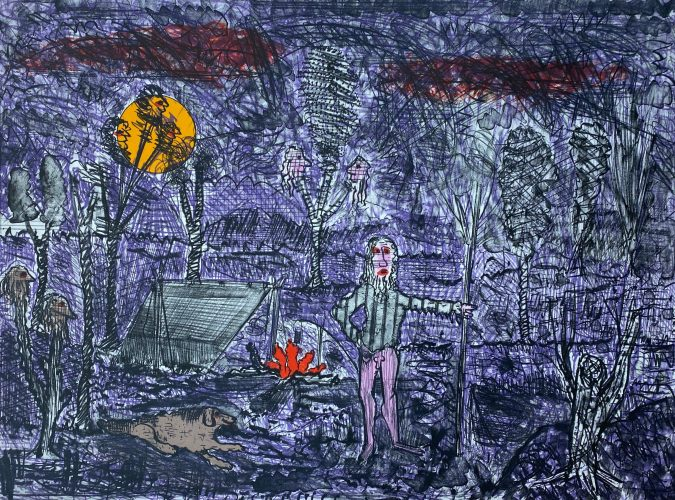 The Campfire by Roy Deforest at ARTContent Editions Limited