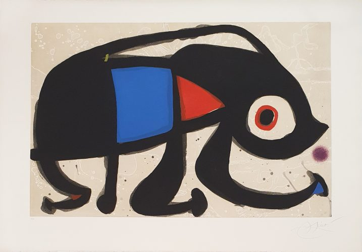 Le Rat des Sables by Joan Miro at