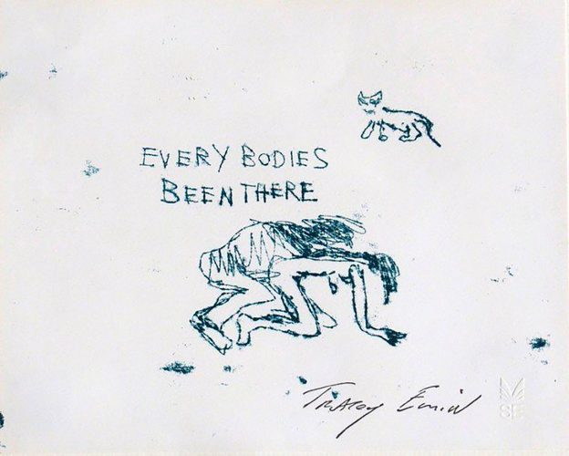 Everybodies Been There by Tracey Emin at www.kunzt.gallery