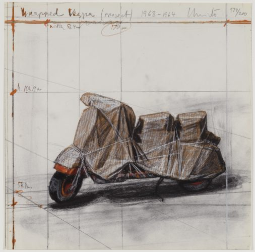 Wrapped Vespa Project 1963-1964 by Christo at