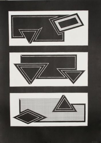 Black Stack by Frank Stella at