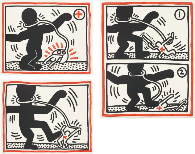 Untitled (Free South Africa) by Keith Haring at